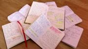 Les carnets où sont notées les idées