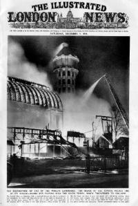 Le Crystal Palace en feu