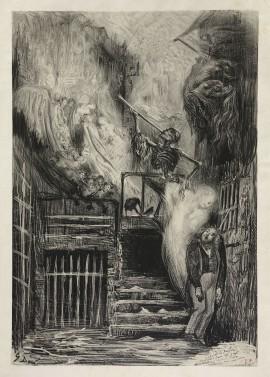 Le suicide de Gérard de Nerval vu par Gustave Doré (gravure)