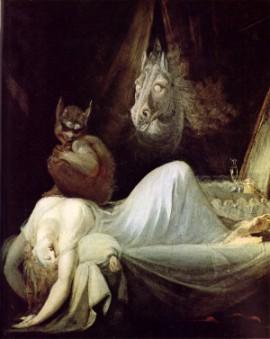 «Le cauchemar», la représentation la plus célèbre du thème de l'incube due à Johan Heinrich Füssli (1781)