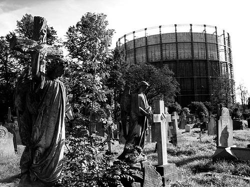 Le cimetière de Kensal Green, dans l'ouest de Londres, l'une des plus anciennes et des plus grandes nécropoles de la capitale britannique