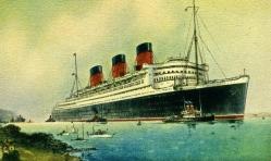 La traversée de l'Atlantique sur le Queen Mary, paquebot le plus rapide du monde, fleuron de la Cunard White Star Line