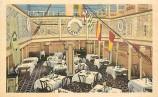 La salle du Berstein's Fish Grotto, qui donnait à la clientèle l'illusion de dîner sur le pont d'un navire