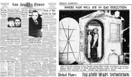 Édition du Los Angeles Times où il est fait mention de la chambre à gaz de San Quentin et de l'exécution d'Albert Kessel et de Robert Lee Cannon (chapitre XII)