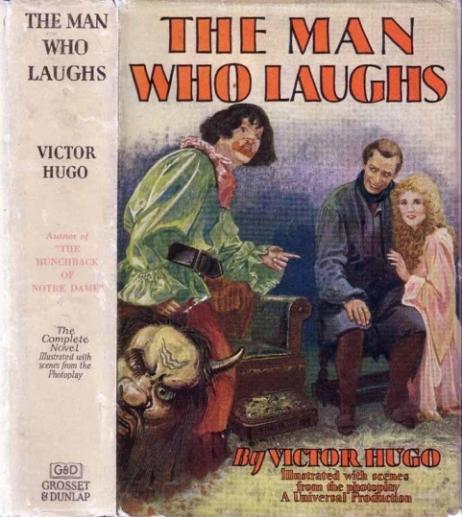 L'édition Grosset & Dunlap de « L'Homme qui rit » de Victor Hugo, enrichie d'une dizaine de photographies de plateau