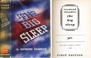 L'édition originale du « Grand Sommeil » de Raymond Chandler paru le 6 février 1939 chez Alfred A. Knopf, à New York. L'ouvrage paraîtra en mars à Londres chez l'éditeur Hamish Hamilton