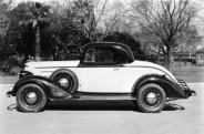 Le coupé Oldsmobile 1934 que James Trelawney a loué dès son arrivée à Los Angeles et qu'il conduit tout au long roman