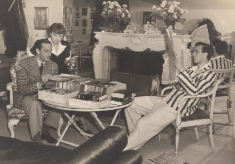 Basil Rathbone dans sa demeure du 5254 Los Feliz Boulevard