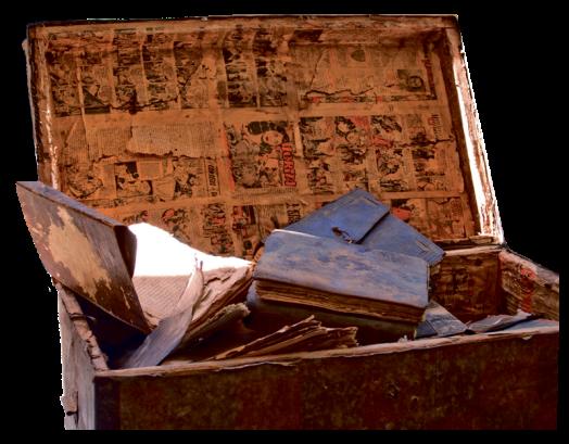 Une malle appartenant à une bibliothèque familiale © Seydou Camara