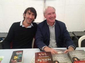 Édition 2015 du festival Le Livre sur les quais, à Morges (Suisse). En compagnie de Jean d'Aillon.