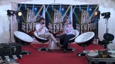 Édition 2015 du salon «Saint-Maur en Poche», en compagnie de la journaliste Jacqueline Pétroz (France Inter). Interview mise en ligne sur le site des Déblogueurs.
