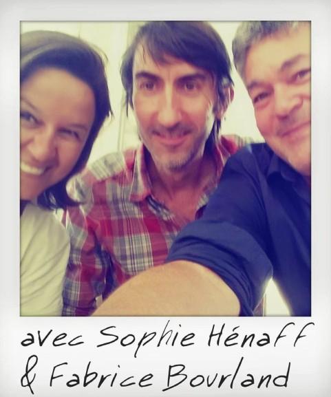 FIRN 2015 à Frontignan. Avec Sophie Hénaff (à gauche) et Michel Moatti (à droite). Photo Michel Moatti.