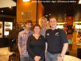 23 mai 2012: rencontre à la librairie Martin-Delbert (Agen). Soirée animée par Michel Gardère, en présence de David S. Khara (à droite) et Éric Giacometti (au centre).