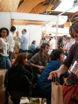 Étonnants voyageurs 2008: avec Viviane Moore (à droite) et mon éditrice Emmanuelle Heurtebize (juste derrière nous).