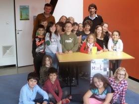 Concours départemental «Mosel'Lire»: les élèves de CE2 de l'école Schweitzer se sont rendus à la médiathèque de Nilvange pour échanger autour du «Chat de la mère Mustang».